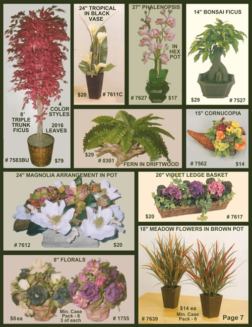 Silk Tree Warehouse Special Deals and HOT Buys... Click Here to enlarge!